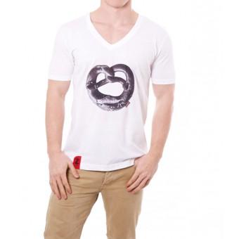 Coazi Brezel V-Shirt   Bio Baumwolle & Fair Trade