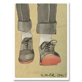great-handmade *Walk on! Postkarten Set