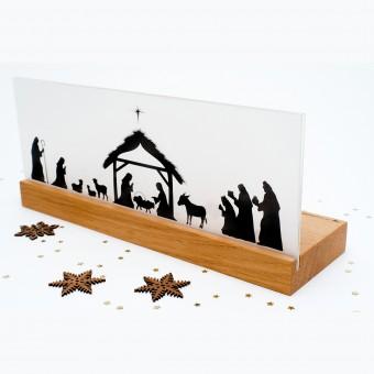 klotzaufklotz Weihnachtskrippe Bethlehem Holz (Eiche)