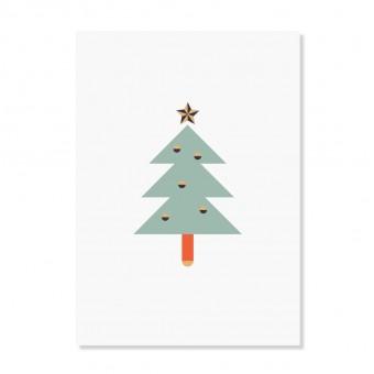 """Edith schmuckes Papier """"Weihnachtstanne"""" Postkarte"""