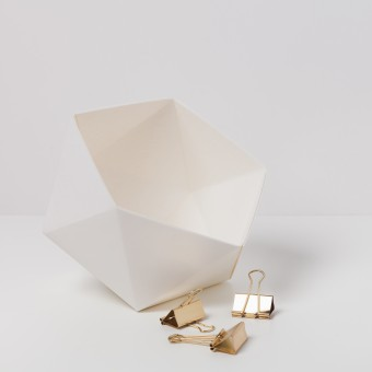 KAMI. GEOMETRIC BOX WHITE
