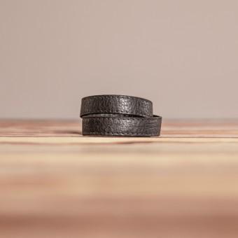 LEDERJUNGE – Wickelarmband, Armband »LIZ« aus Rhabarberleder (braun)