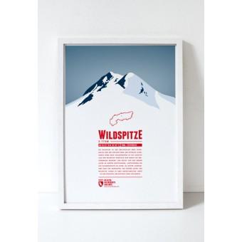 """Bergdruck """"Wildspitze"""" von Marmota Maps"""
