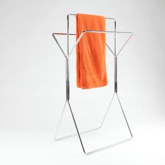 wingman - Design Handtuchhalter und Stummer Diener - verchromt