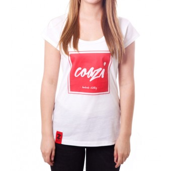Coazi Written Red Wide T-Shirt Female