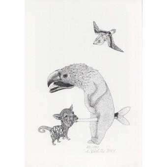 Anka Büchler, Das Liebesspiel der Wolpertinger limitierte Digitaldruckserie, Motiv 07