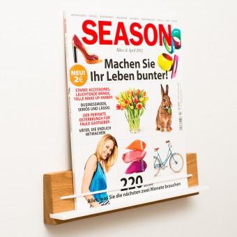 klotzaufklotz Zeitschriftenhalter Eiche