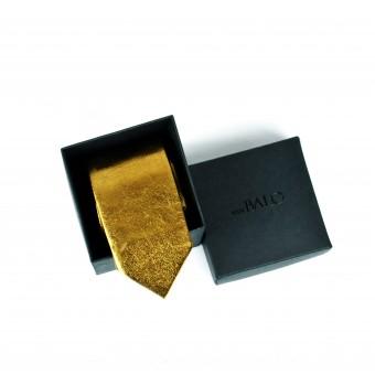 vanBALO Goldene Krawatte aus echtem Leder