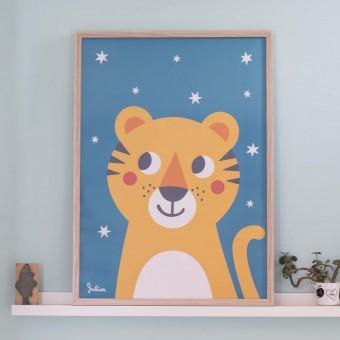 zookids Poster nachtleuchtend Tiger