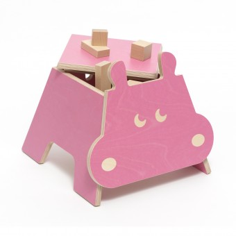 zookids - Kinderhocker (Hippo)