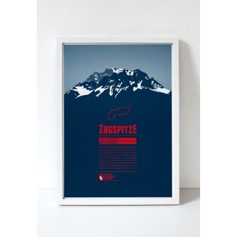 """Bergdruck """"Zugspitze"""" von Marmota Maps"""
