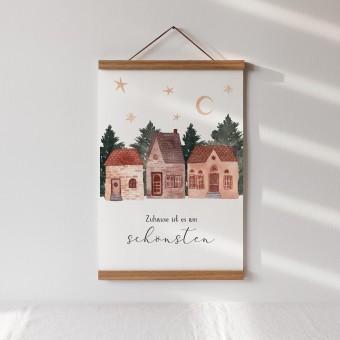 Paperlandscape | Kunstdruck | winterliche Häuser