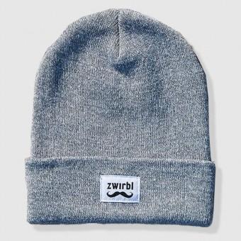 Zwirbl Moustache Beanie // grey