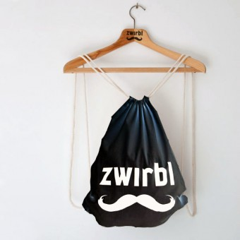 Zwirbl Moustache Gym Bag // black
